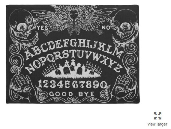 Ouija Board Welcome Mat in Black