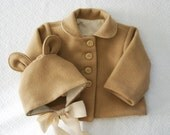 Baby bear bonnet and jacket size 3-9 months