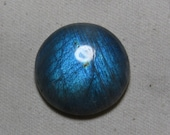 LABRADORITE -  So Gorgeous Full Blue Flash Strong Round Shape Cabochon Huge size - 28x48 - Height 8 mm