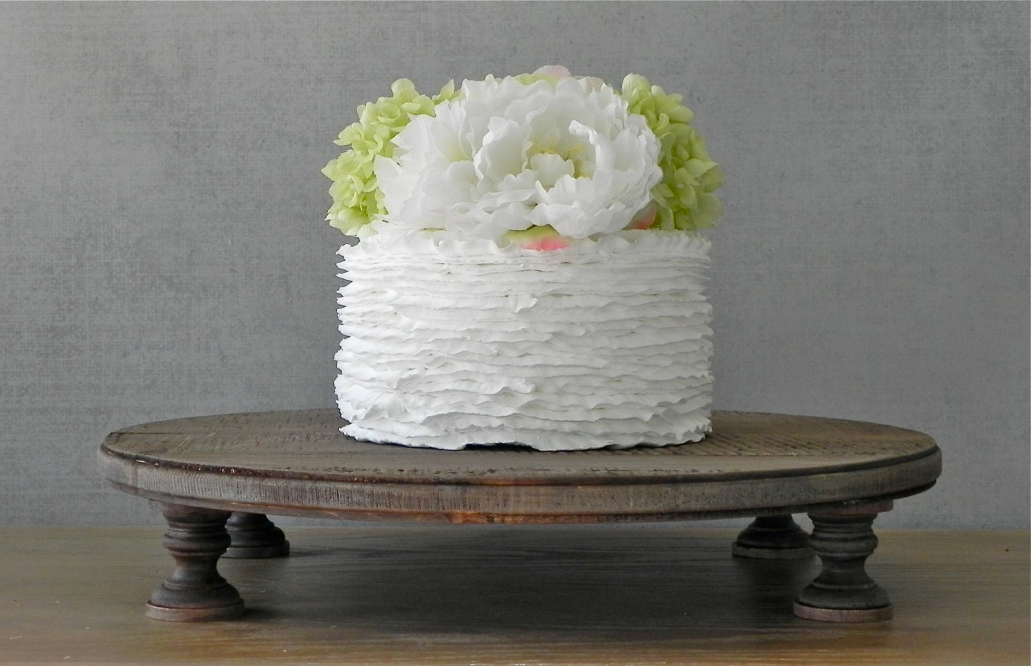 20 rustic wedding cake stand round rustic country wooden