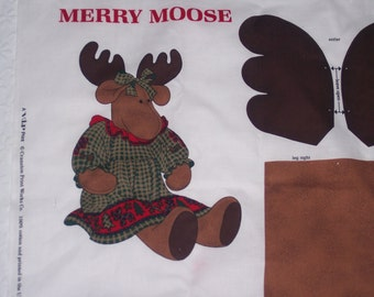 Merry Moose DIY fabric panel -- 3012