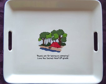 Guest Book Alternative Retirement signature platter for retirement, scout leader, teachers gift _ camping