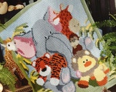 Held for Jessica* SALE! Jungle Animal Baby Afghan 2 - 60% off!