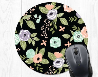 Mouse Pad Floral Mouse Mat Mousepad Office Decor Cubicle Decor Office Supplies Office Desk Accessories Cubicle Accessories Coworker Gift