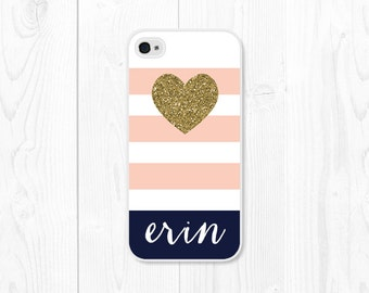 Personalized iPhone 7 Case Glitter iPhone SE Case Glitter Phone Case iPhone 6 Case Monogram iPhone 6s Case Gold Monogram Phone Case