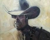 Oil Painting cowboy - original cowboy painting - western art - dutch oilpaintings - nancyvandenboom oilpaintings - wild west - westernstyle