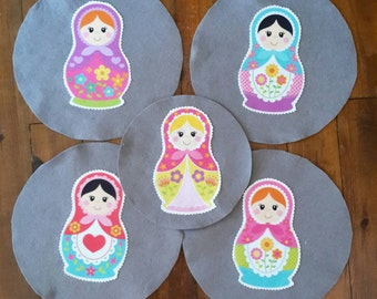 Matryoshkas Set of 5 Sizes Pan Protectors