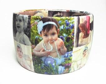Photo Bracelet - Personalized Photo Bangle - Gift for Grandma - Custom Photo Jewelry - Photo Jewelry - Personalized Jewelry - Gift for Her