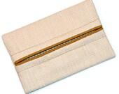 Vanilla, Off White Linen, Fall Colors, Travel Tissue Holder, Kleenex Holder, Travel Tissue Cozy, Pocket Tissue Holder, Purse Tissue Pouch