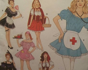Halloween Costume Pattern, Adult Costumes, Sexy Women's Costumes, Nurse Costume, French Maid Costume,  Simplicity 8851 Sizes 6, 8, 10, 12