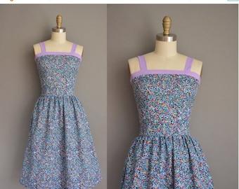 25% off SHOP SALE... vintage 1970s dress/70s dress floral dress / 1970s sun dress