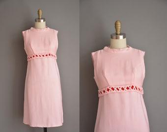 vintage 1960s pink Emma Domb mini dress