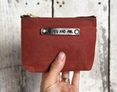 Small Waxed Canvas Pouch: Rust by Peg and Awl