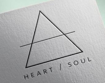 Custom Logo - Triangle Logo - Geometric Logo - Minimal Logo - Business Logo Design