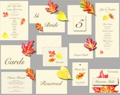 Autumn Leaf Cut Outs - Place cards - escort cards, events, weddings, decorations. Holidays