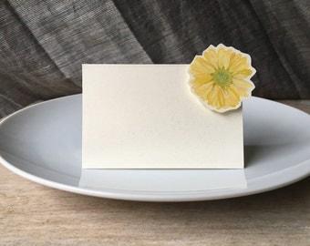 Purple Daisy - Place Card - Escort Card - Gift Card  - Menu card weddings events
