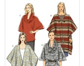 Sz Lrg/Xlg/Xxl - Butterick Pattern B5993 - Misses' Loose-Fitting Wrap, Top and Tunic - Shawls and Cowl-Neck Tops