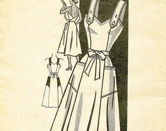 ON SALE Vintage 1950's Dress Pattern - AMERICAN Weekly - Mail Order Pattern 3889 - Misses' Flared Back-Wrap Dress - Bust Size 40
