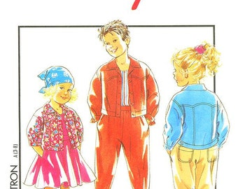 Style Kids Pattern 2071 -  Girls' and Boys Separates - Jacket in 2 Variations, Skirt and Pants  - Kids Sizes 3 to 8