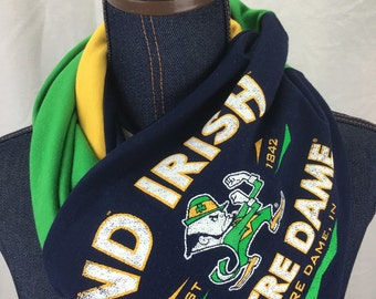 Notre Dame Recycled T Shirt Infinity Scarf