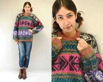 Mohair Sweater // Fluffy Sweater //  FUZZY MONKEY