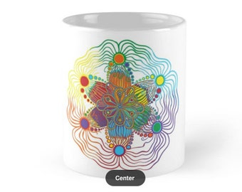 Mug with Rainbow design