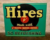 Embossed Hires Rootbeer Beverage Soda Tin Advertising Sign