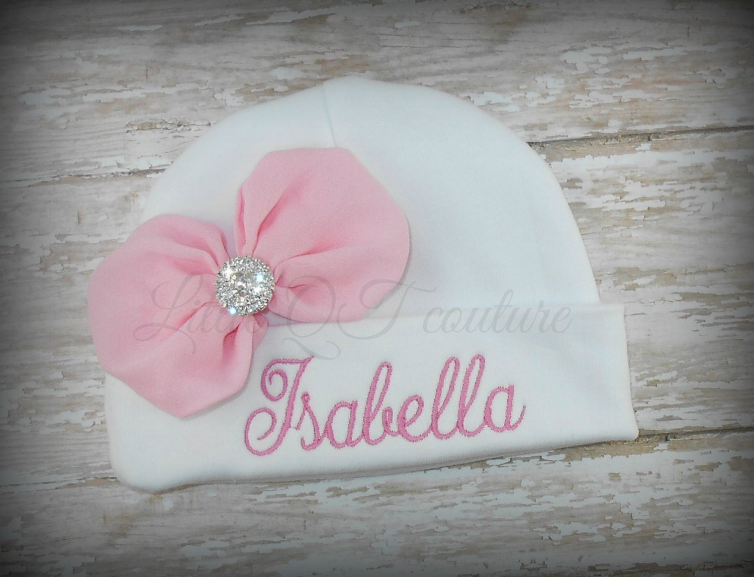 Baby Girl Hat Personalized Embroidered Baby Hat Baby Beanie