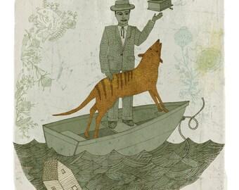 Harmonious Life with Thylacine print