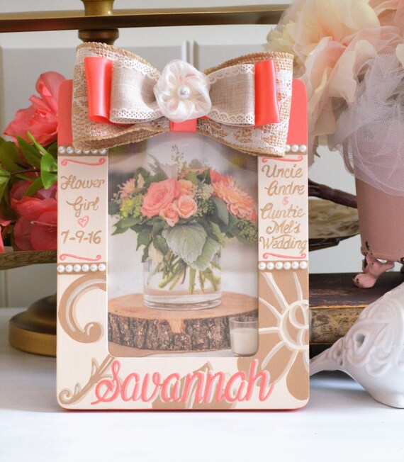 Wedding Gifts For Junior Bridesmaid : Junior Bridesmaid GiftFrame Flower Girl Personalized Hand