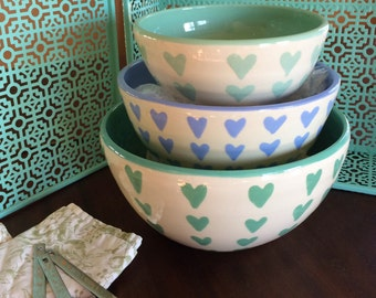 Heart Nesting Bowls
