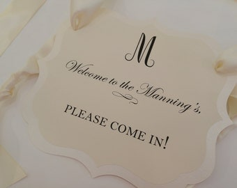 Welcome Door Sign Perfect for Baby Showers, Bridal Showers, Dinner Parties, Birthday Parties