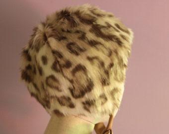 Leopard Faux Fur Cap