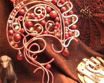 Romantic copper wire work necklace