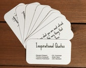 Inspirational Quote Cards, Inspiring Quotes, Party Favor, Enclosure Cards, You Can Do It, Desk Accessories, Set of 8 Mini Quote Cards