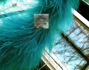 Teal Marabou Boa Feathers