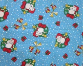 fabric - PEANUTS Christmas fabric - 29 x 44 plus attached remnants