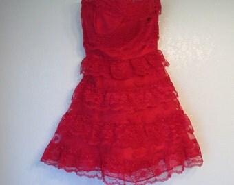 LACE prom dress size small