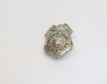 Vintage Granite Falls Fire Department Badge Russell Uniform Co c. 1930s MN