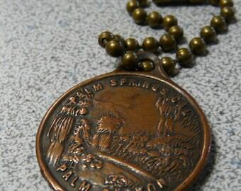 Vintage key chain Palm Springs Palm Canyon