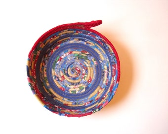 Coiled Basket - Storage Bowl - Fabric Basket - Nightstand Catchall - Display Dish for Angel Cards
