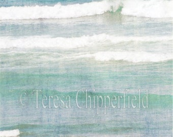 Ocean Photography, Aqua Seascape Photo Print, Sea green Waves, Ocean Spray Photo, Beach Home decor, Teal Ocean Picture, Blue Wall Art, Surf