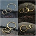 Triple Links - C2533, Select From Sterling Silver, 24k Gold Plated, 14k Gold Plated, Natural Bronze, Links, Connector Links, Circle Links
