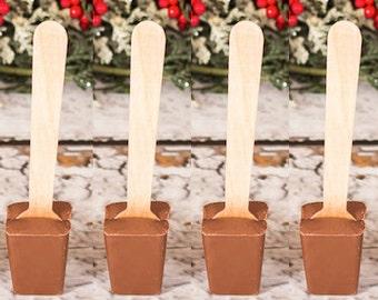 Hazelnut Hot Chocolate on a Stick