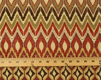 San Mateo Redwood Swavelle Upholstery Southwest Chevron Fabric