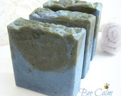 BEE CALM Soap - honey, bee pollen, aloe vera, and cream - bee gentle line - handmade by Bonny Bubbles
