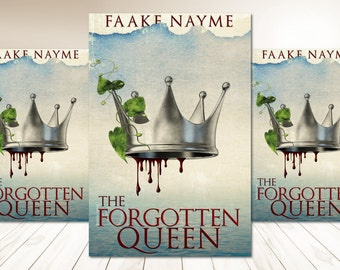 """Premade Digital Book eBook Cover Design """"The Forgotten Queen"""" Fiction Novel Young New Adult YA Romance Fantasy NA"""