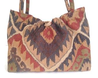 Southwestern Upholstery Shoulder Bag Knitting Project Tote