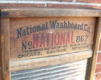 Vintage National Washboard No 862