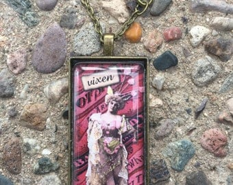 Vixen Pendant Necklace On Etsy 24 Inch Chain Alteredhead On Etsy Pendant Statement Necklaces On Etsy Themed Necklace Popular On Etsy Dancer